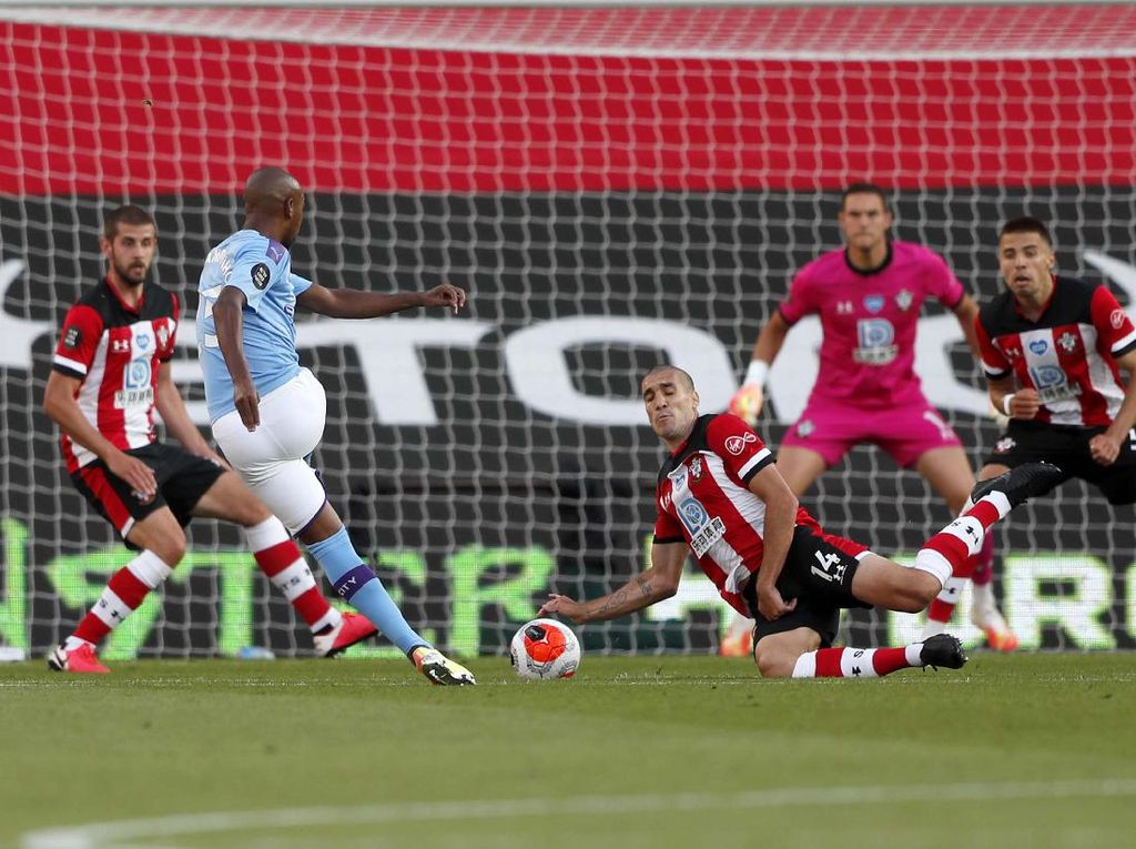 Southampton Vs Man City Pecahkan Rekor Penonton TV di Inggris