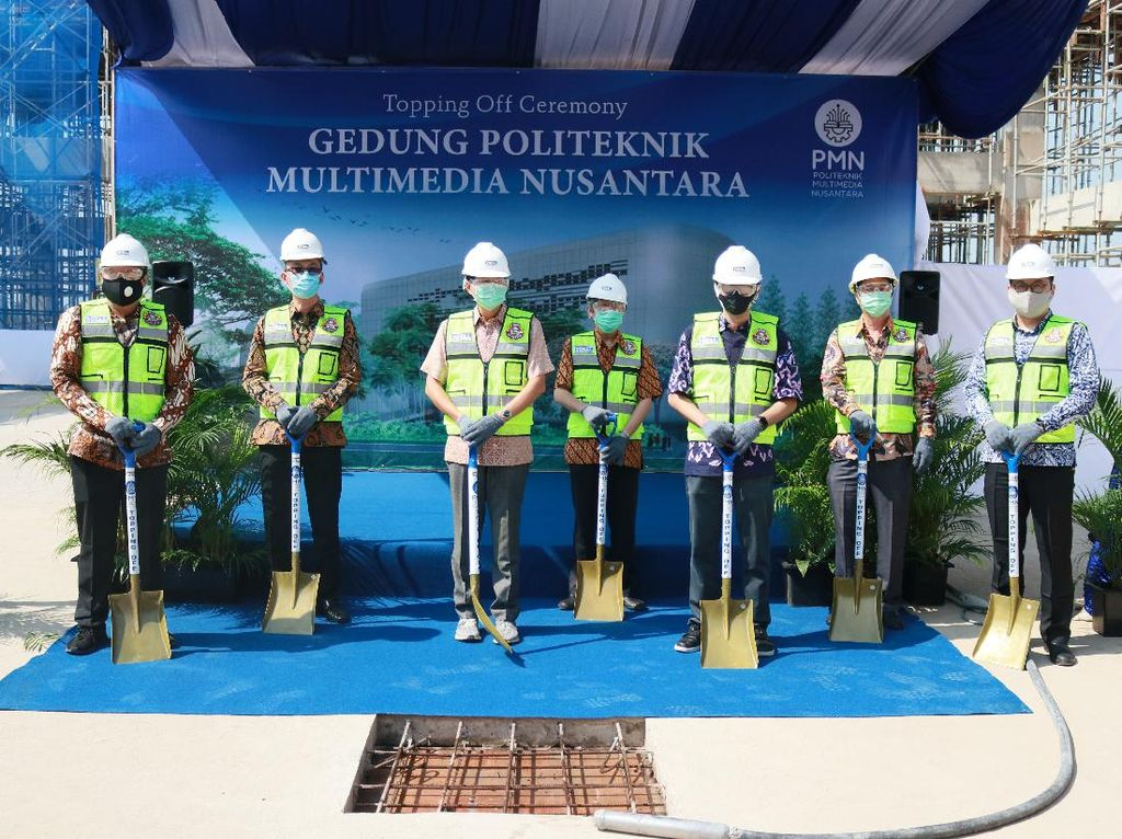 Topping Off, Gedung Politeknik Multimedia Nusantara Beroperasi 2021