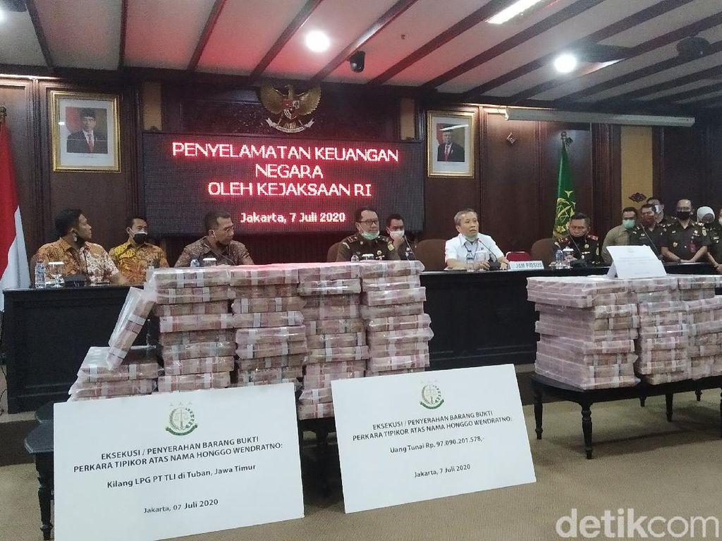 Kejagung Eksekusi Uang Tunai Rp 97 M di Kasus Honggo, Disetor ke Kas Negara