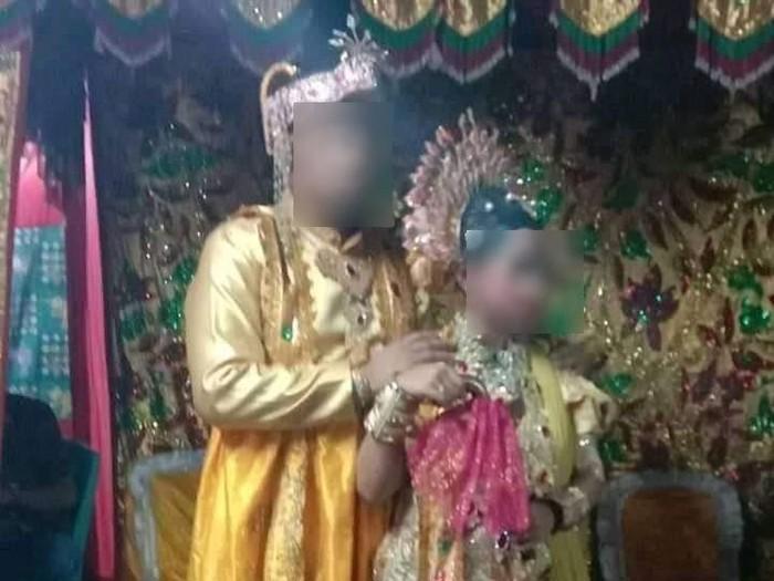 Pernikahan antara B (44) yang menikahi gadis yang masih 12 tahun di Pinrang, Sulsel (dok. Istimewa).