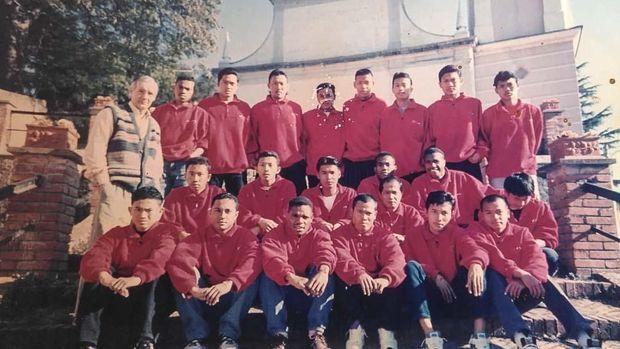 Elie Aiboy di skuad Baretti II, cikal bakal skuad Timnas Indonesia yang ditempa selama setahun di Italia. (Dok. Pribadi Elie Aiboy)