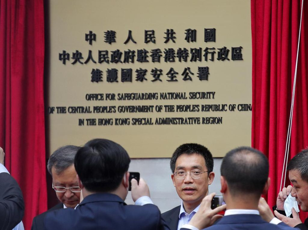 Video Peresmian Kantor Keamanan Nasional China di Hong Kong
