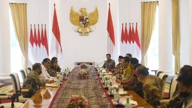 Presiden Jokowi bertemu pimpinan MPR