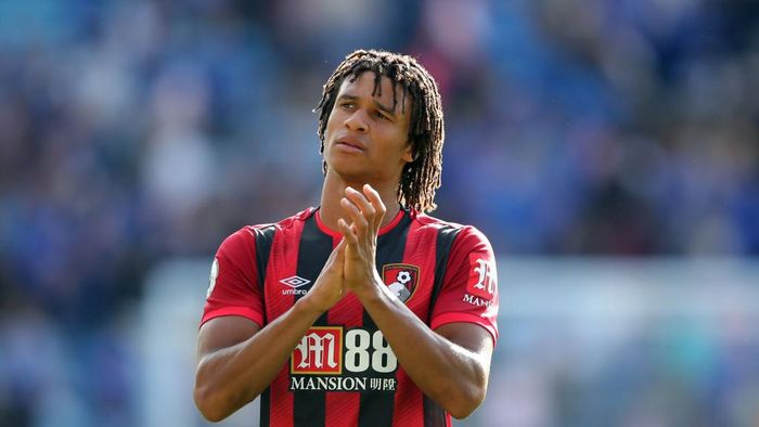 LEICESTER, ENGLAND - AUGUST 31: Nathan Ake of AFC Bournemouth during the Premier League match between Leicester City and AFC Bournemouth  at The King Power Stadium on August 31, 2019 in Leicester, United Kingdom. (Photo by Marc Atkins/Getty Images)
