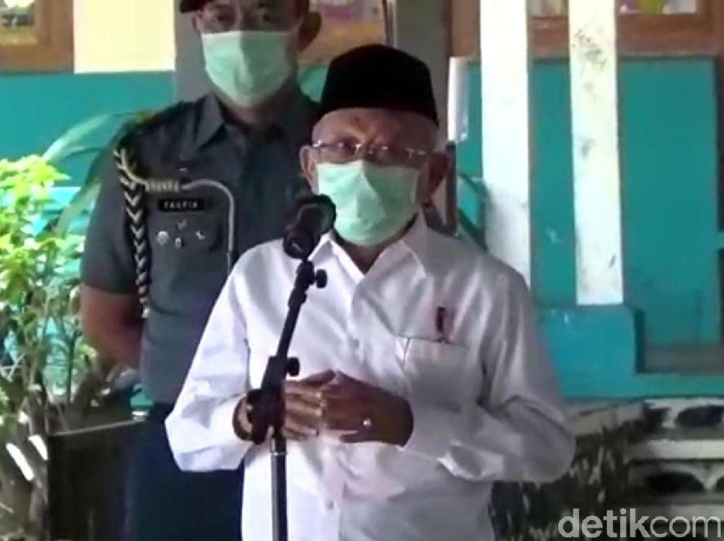 Ro Corona Jabar di Bawah 1, Maruf Amin Puji Ridwan Kamil
