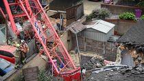 Video Crane di Inggris Roboh, 1 Orang Tewas
