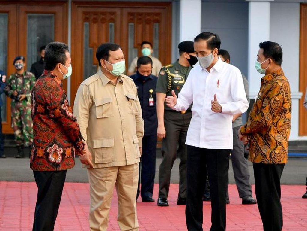 Didampingi Menhan Prabowo, Jokowi Tinjau Food Estate di Kalteng