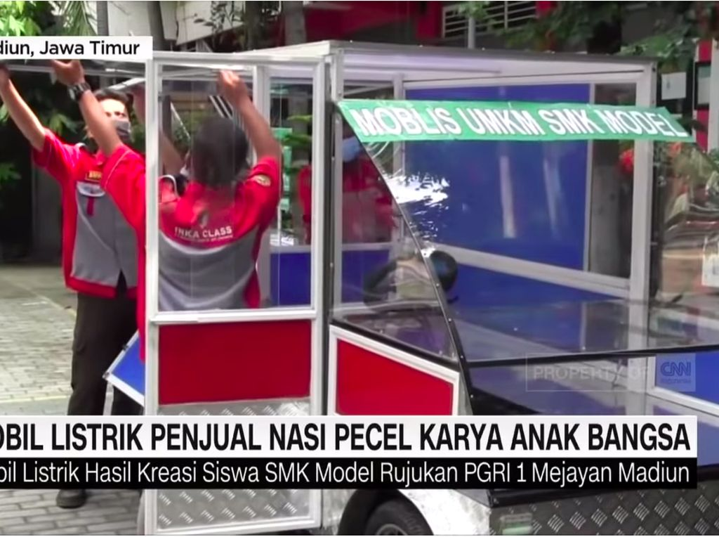 Keren, Mobil Listrik Bikinan Anak-anak SMK Ini buat Jualan Nasi Pecel