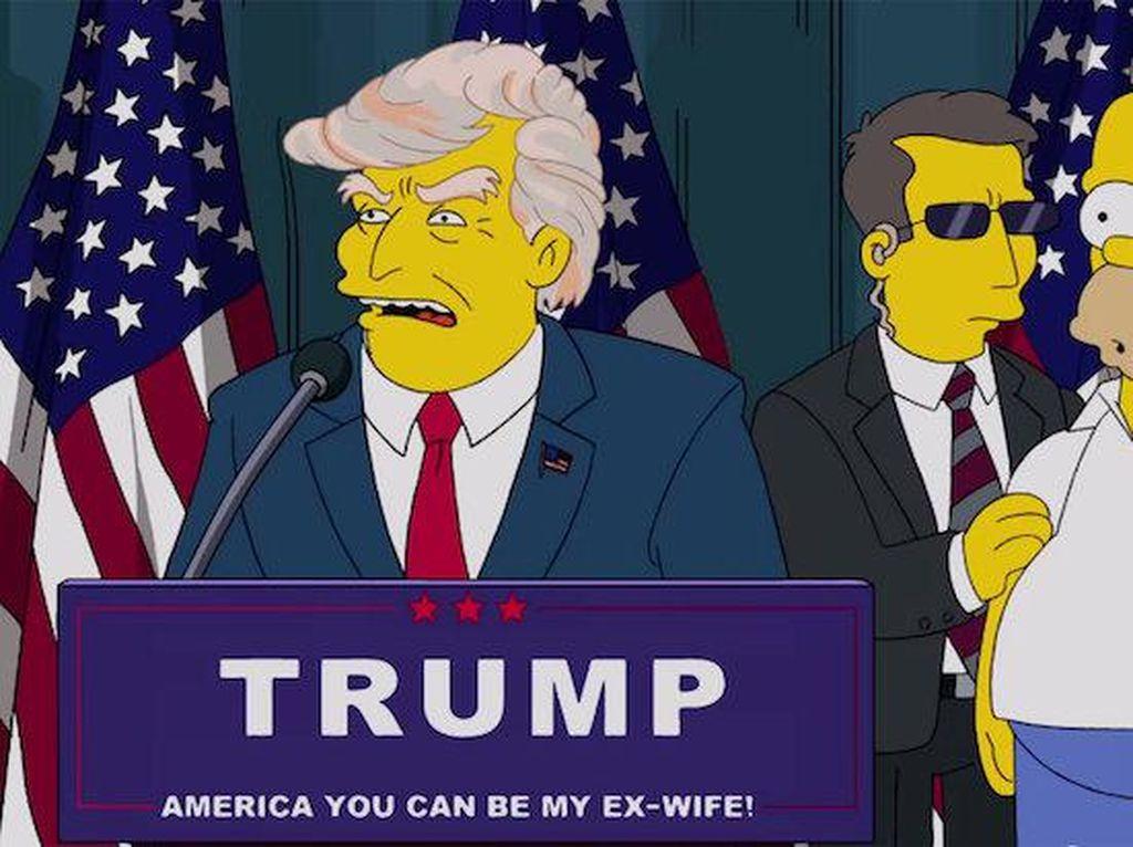 The Simpsons Viral Lagi Usai Trump Kena Corona