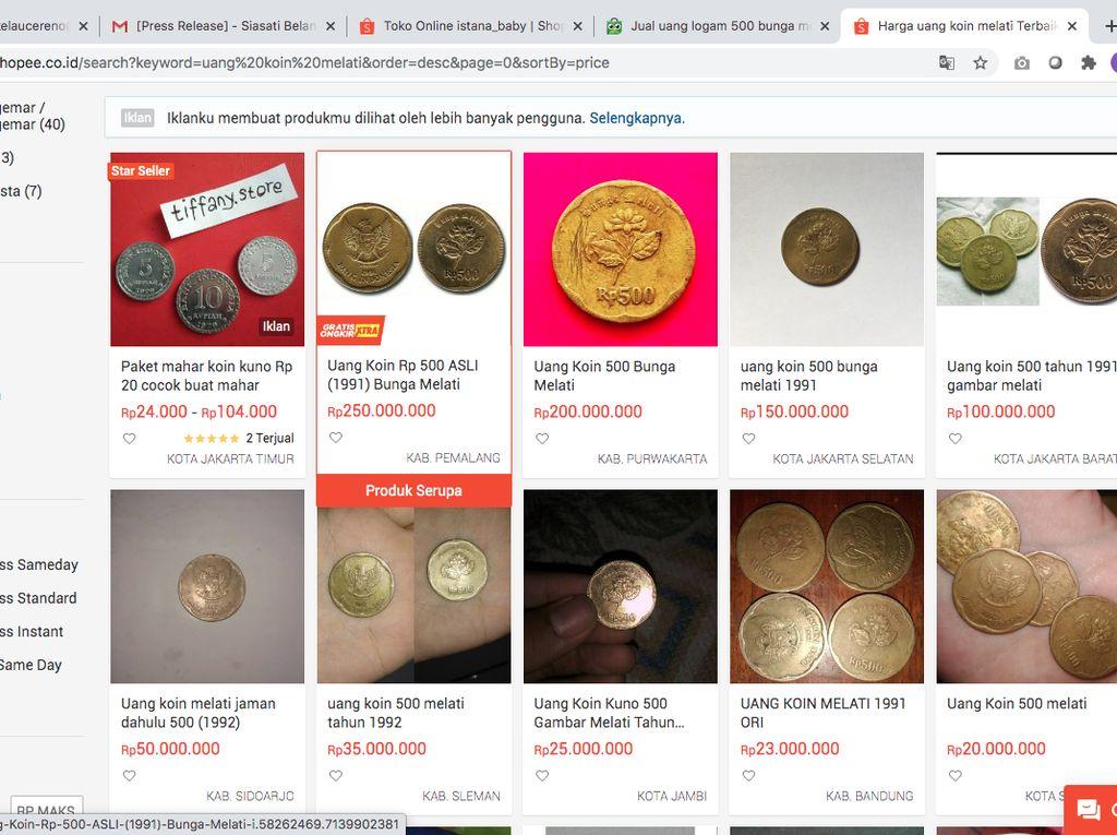 Ini Spesifikasi Koin Gopek yang Harganya Dipatok Ratusan Juta