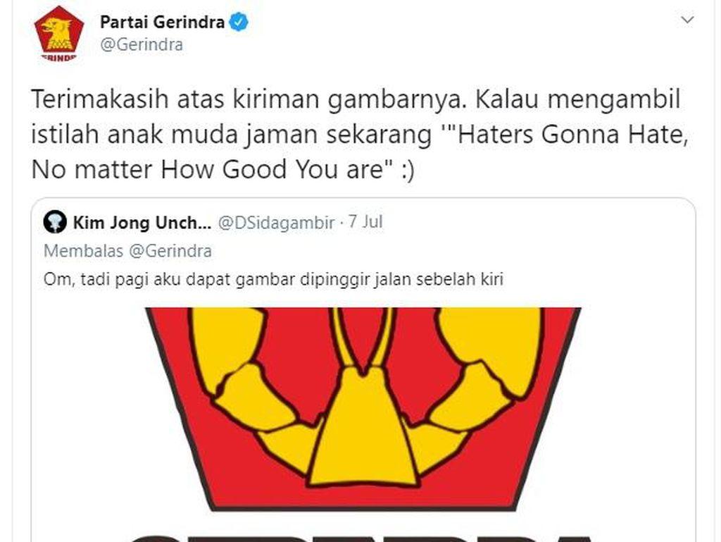 Tanggapi Santai Logo Garuda Jadi Lobster, Gerindra Tak Lapor Polisi