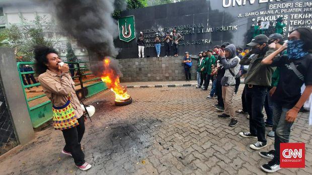 Demo Tuntut Sanksi DO Mahasiswa Unas Berujung Ricuh