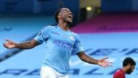 Pemain Manchester City, Raheem Sterling menempati nomor 7. Gajinya 300 ribu paun per pekan atau setara Rp 5,6 miliar (Getty Images)
