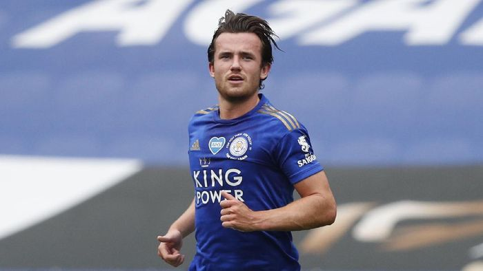 LEICESTER, ENGLAND - JULY 04: Ben Chilwell of Leicester City looks on during the Premier League match between Leicester City and Crystal Palace at The King Power Stadium on July 04, 2020 in Leicester, England. Football Stadiums around Europe remain empty due to the Coronavirus Pandemic as Government social distancing laws prohibit fans inside venues resulting in all fixtures being played behind closed doors. (Photo by Adrian Dennis/Pool via Getty Images)