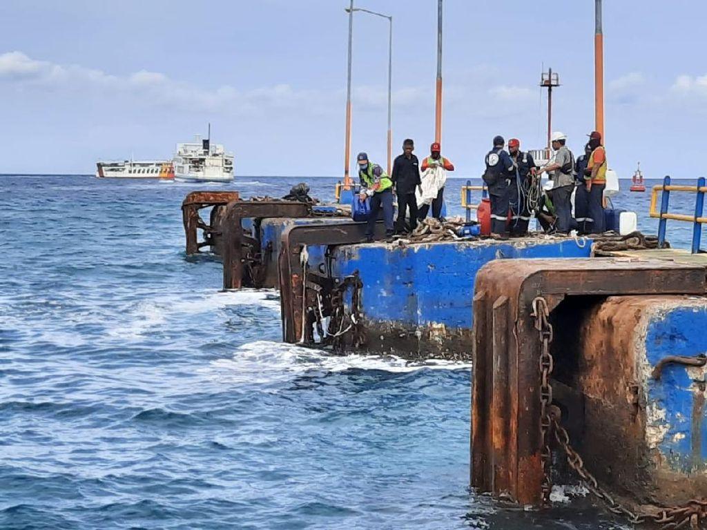 Evakuasi Kapal Feri Tuntas, Pelabuhan Padang Bai Bakal Operasi Lagi