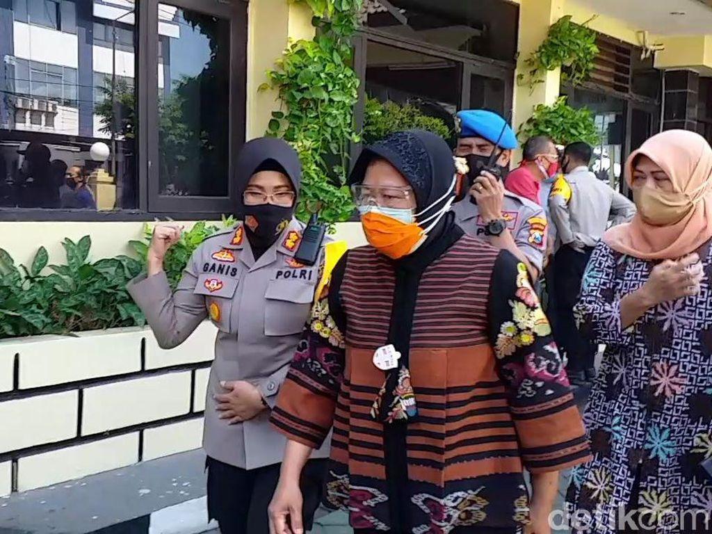 4 Anak Korban Pencabulan Penjaga Makam Jadi Perhatian Wali Kota Risma