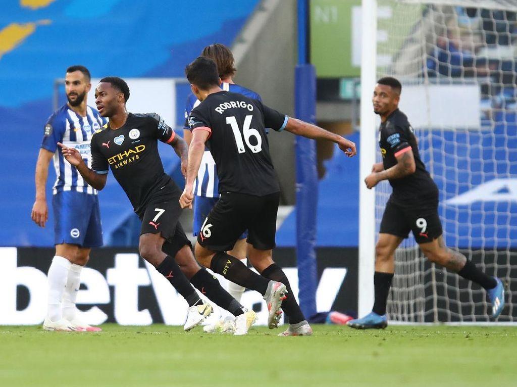 Man City Ungguli Brighton 2-0 di Babak Pertama