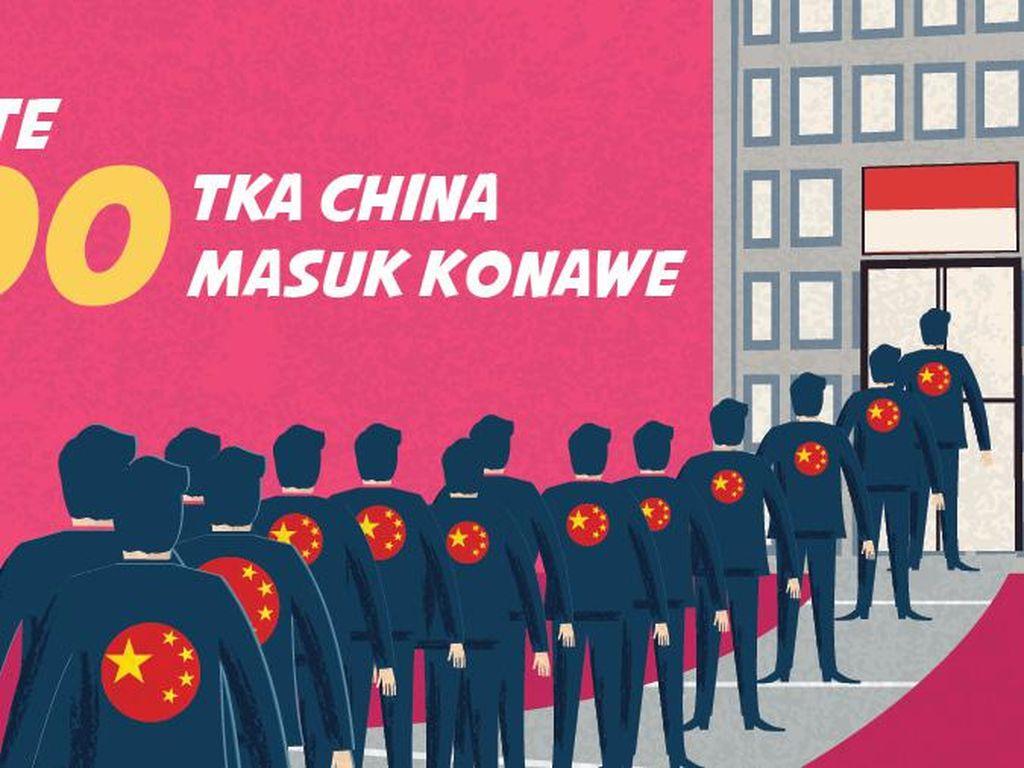 Update Jumlah TKA China yang Sudah Masuk Konawe