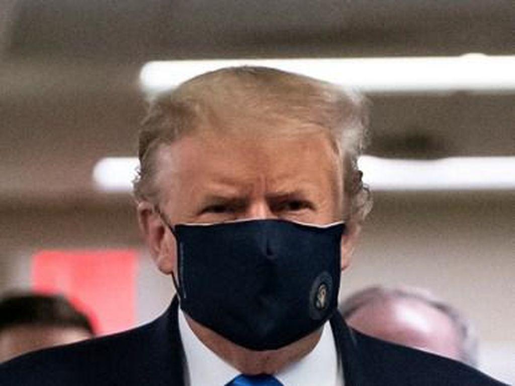 Donald Trump Dikritik, Baru Pakai Masker di Depan Publik Setelah 4 Bulan