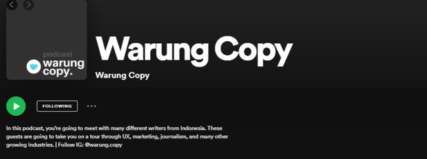 Podcast Warung Copy