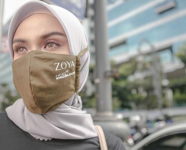 Zoya dan HeiQ juga merilis masker antivirus yang diklaim mampu membunuh virus