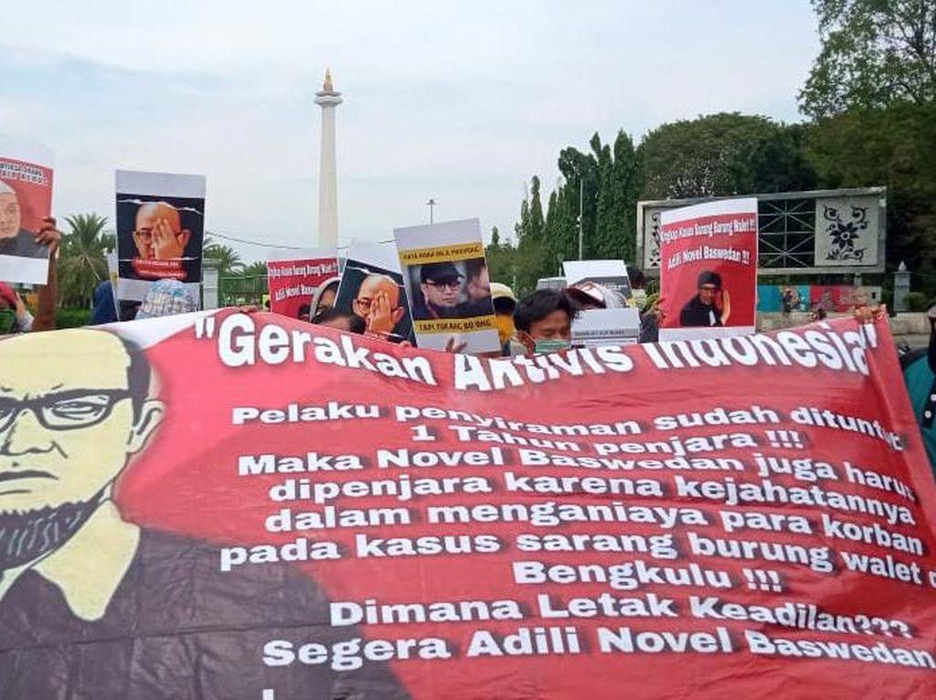 Aksi Seberang Istana Tuntut Kasus Novel Baswedan