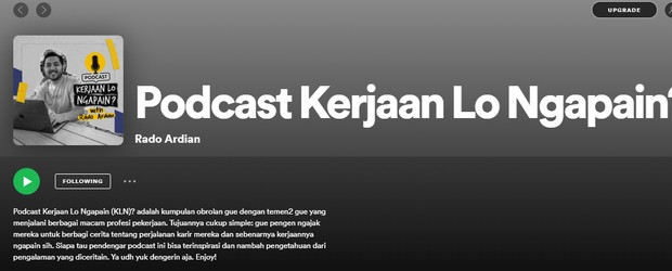 Podcast Kerjaan Lo Ngapain?