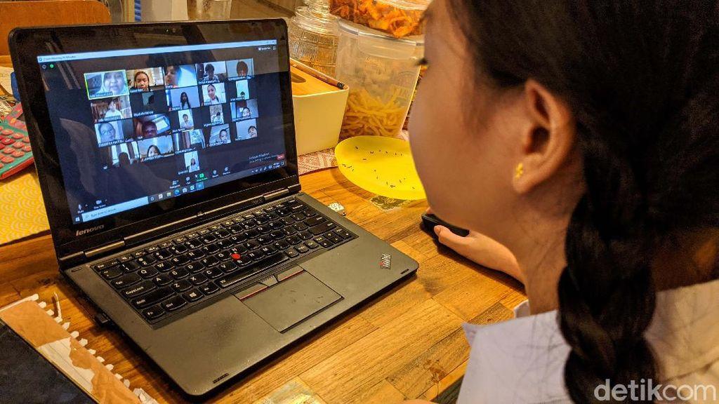 Hari Pertama KBM di DKI Secara Daring