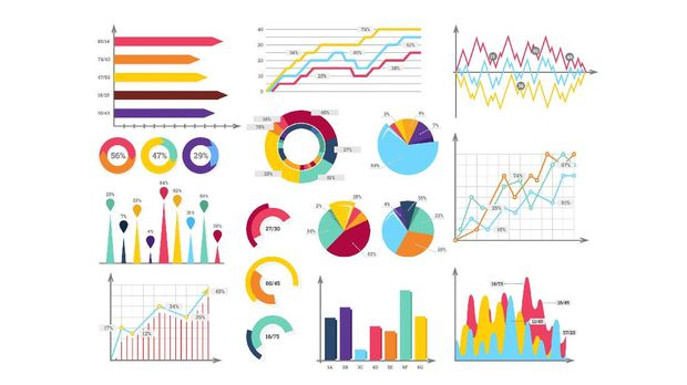 ilustrasi grafik chart