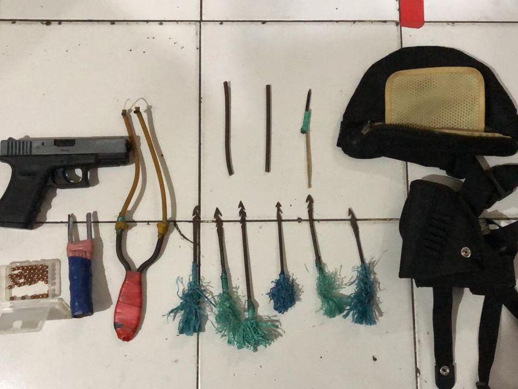 Polisi: ABG Bawa Air Gun di Makassar Produsen Busur Rumahan