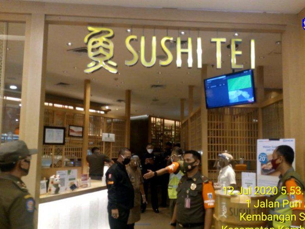 Tak Batasi Jumlah Pengunjung, Restoran Sushi Tei di Mal Jakbar Dikenai Denda