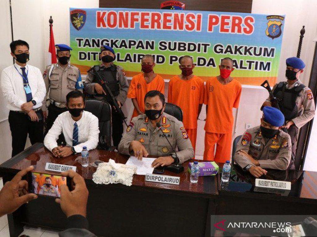 Polisi Tangkap 3 Bajing Loncat Pencuri Tali Kapal di Kaltim