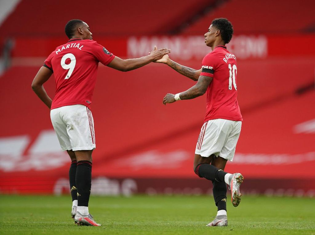 Crystal Palace Vs MU: Rashford-Martial Buru Gol ke Gawang The Eagles