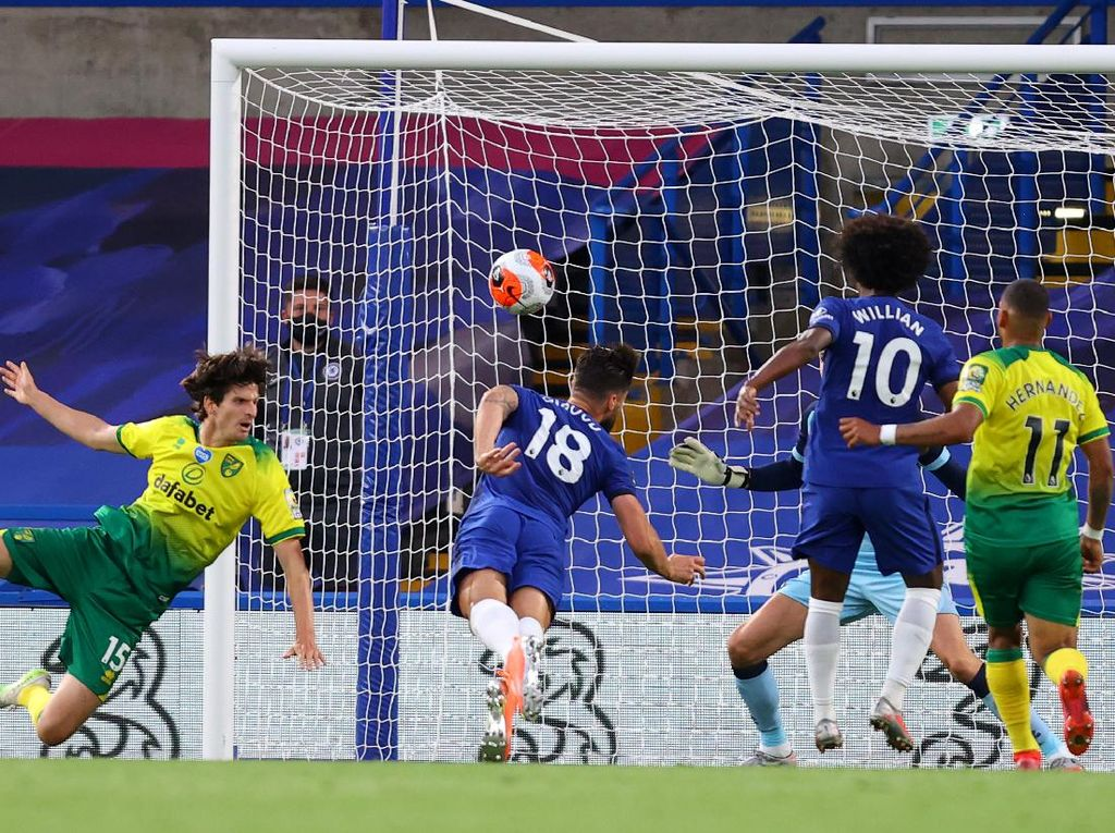 Chelsea Vs Norwich: Giroud Menangkan The Blues