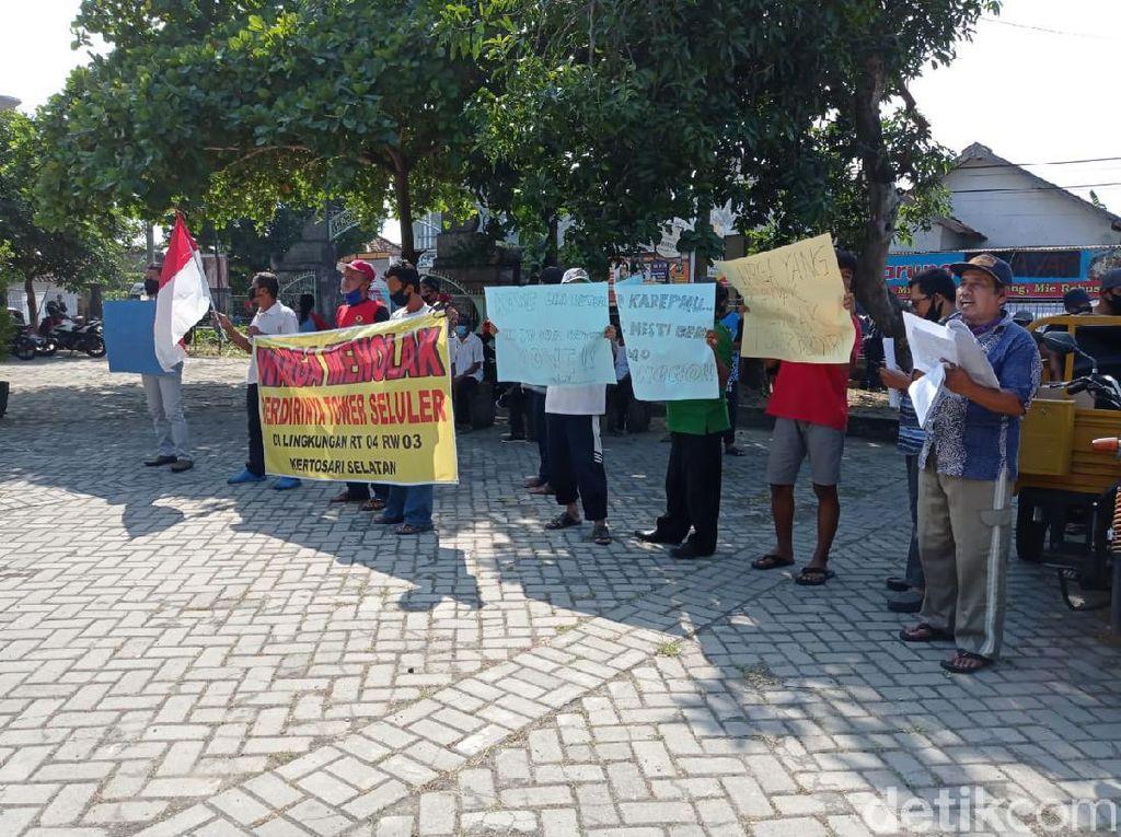 Lagi, Warga di Ponorogo Demo Tolak Pembangunan Tower Seluler