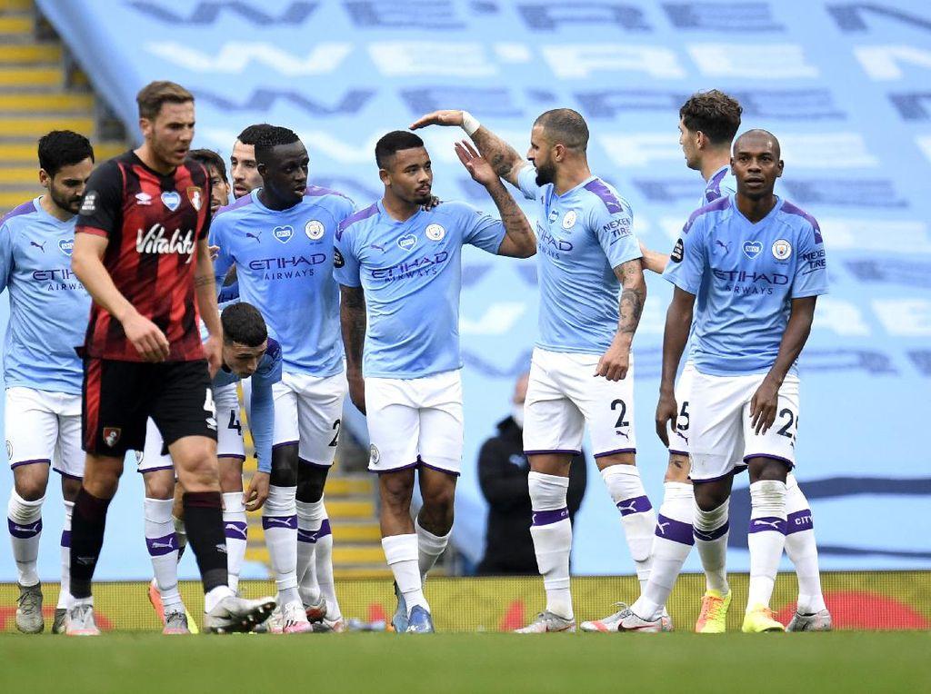 Babak I: Man City Memimpin 2-0 atas Bournemouth
