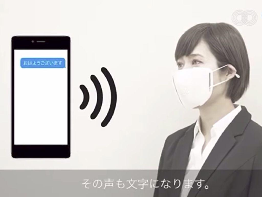 Jepang Bikin Masker Canggih, Bisa Terjemahkan Ucapan ke 8 Bahasa