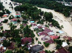 Potret Banjir Bandang di Luwu Utara dari Udara