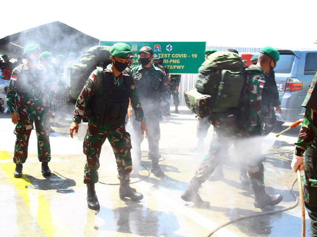 900 Personel Satgas Pamtas RI-PNG Tiba di Jayapura, 6 Reaktif Rapid Test