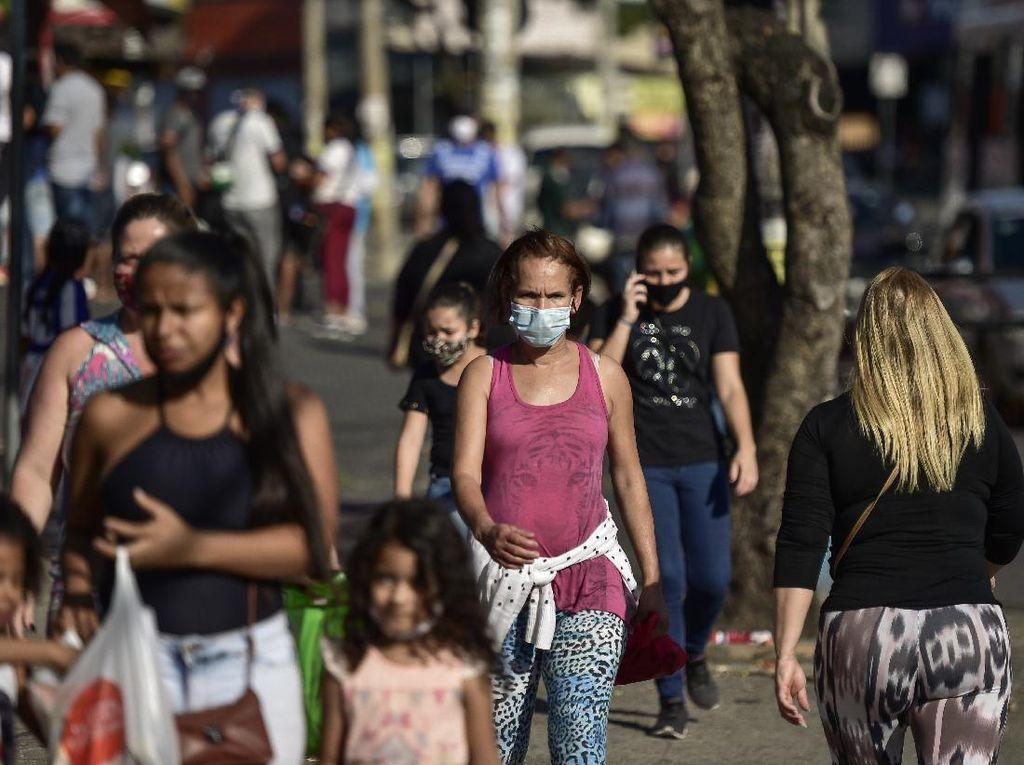 Rekor! Hampir 68 Ribu Orang Positif Corona di Brasil dalam Sehari