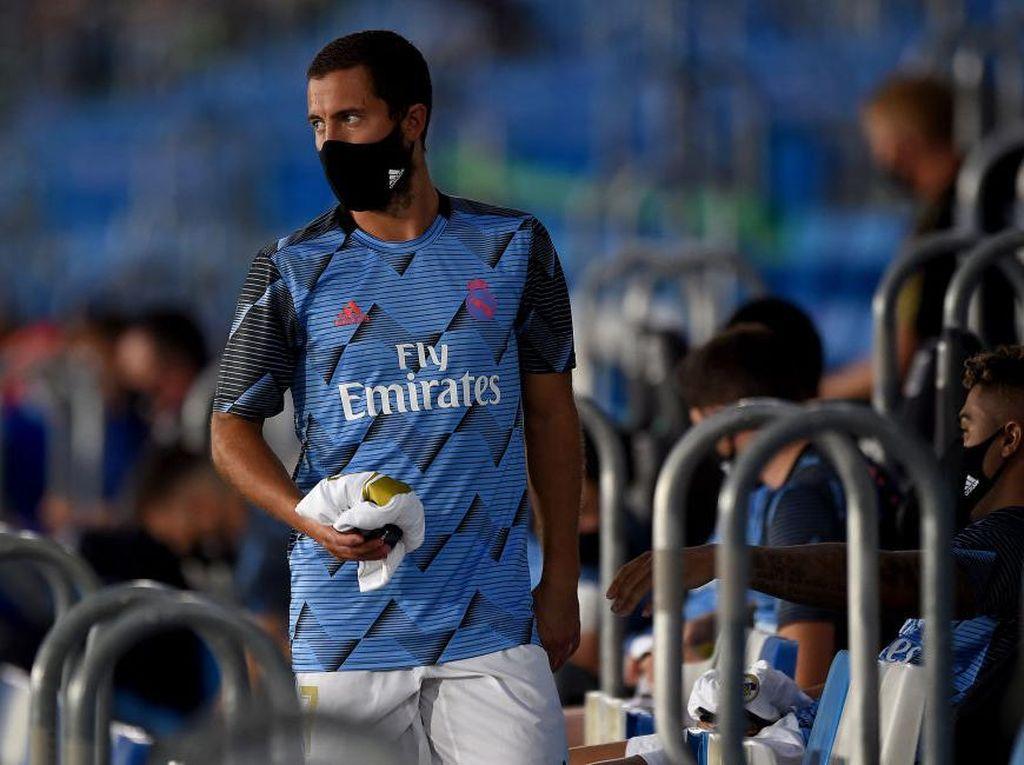 Dibawa Real Madrid ke Gladbach, Hazard Sudah Siap Main?