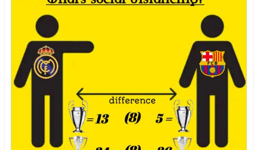 Meme Real Madrid Jawara dan Barcelona Merana