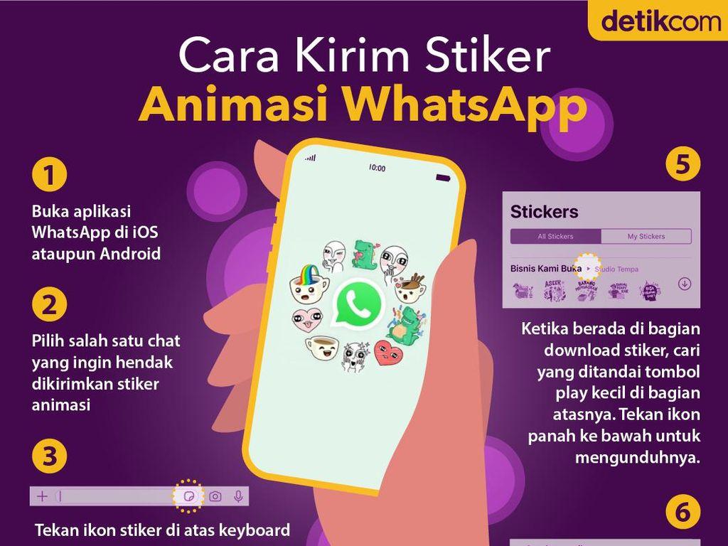 Cara Kirim Stiker Animasi WhatsApp