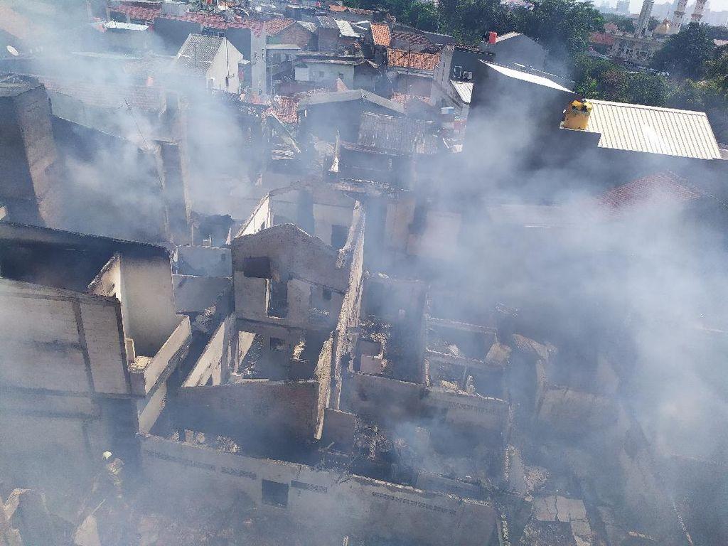 Video Kebakaran Permukiman Padat Penduduk di Paseban