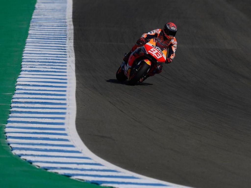 Free Practice I MotoGP Spanyol: Ketat! Marc Marquez Terdepan, Tipis Ungguli Vinales