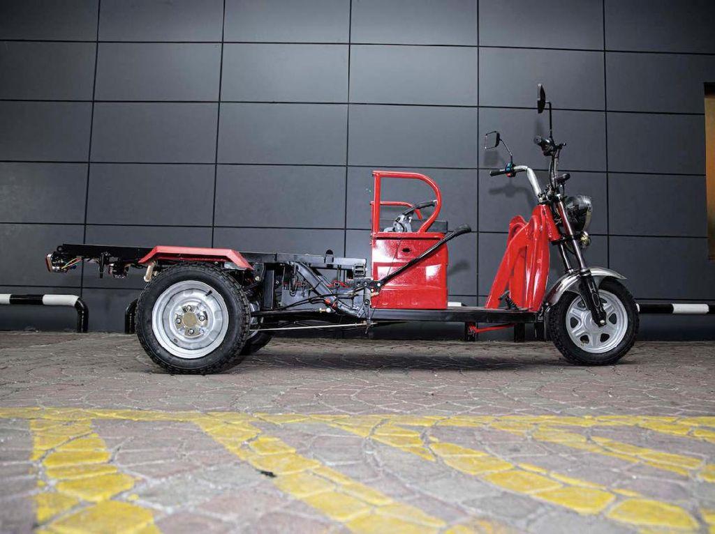 Dibikin di Bogor, Motor Listrik Roda Tiga Ini Janji Serap Komponen Lokal 100%
