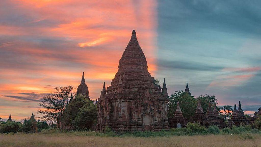 Terpesona Kota 10.000 Kuil di Myanmar