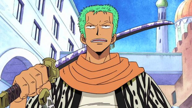 Roronoa Zoro dalam anime One Piece