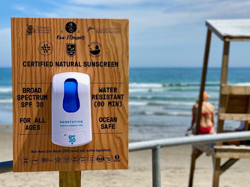 Hore! Rhode Island Sediakan Sunscreen Touchfree Gratis