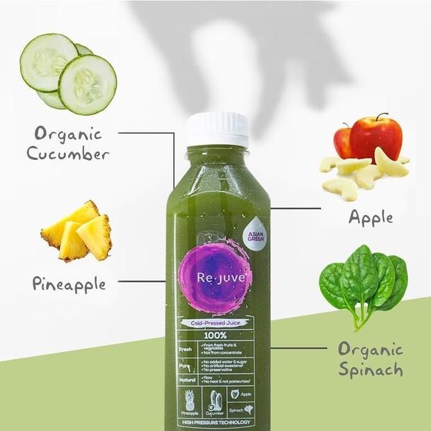 Varian asian green cold pressed juice dari rejuveid